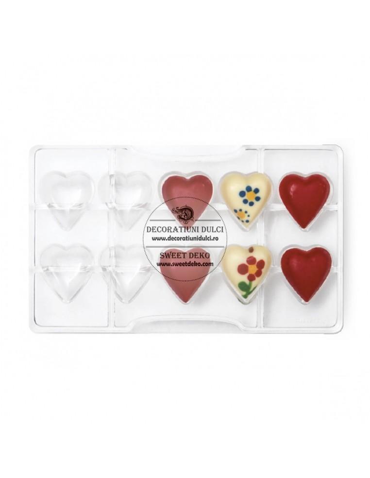 Matrita din policarbonat 10 inimioare