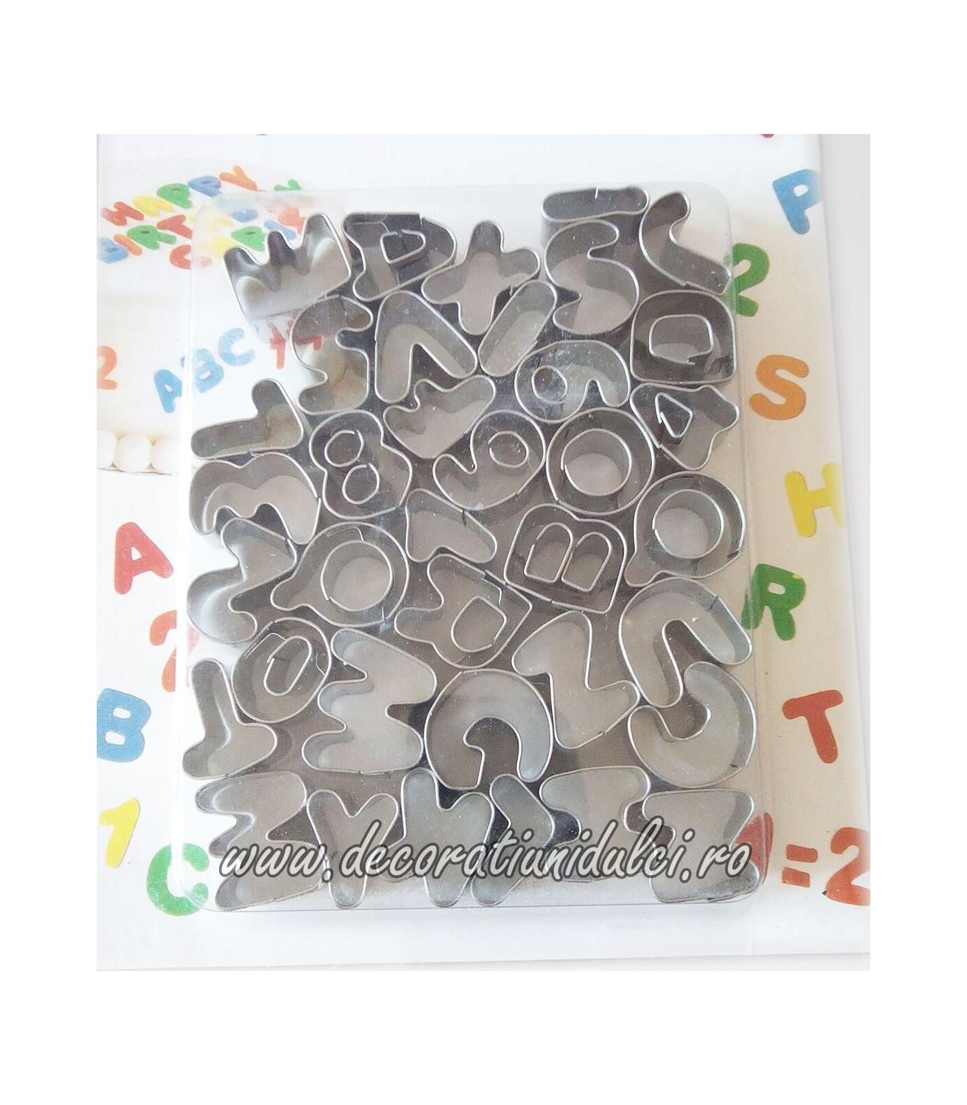 Decupatoare metalice litere si cifre