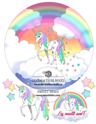 Imagine comestibila Unicorn si stelute