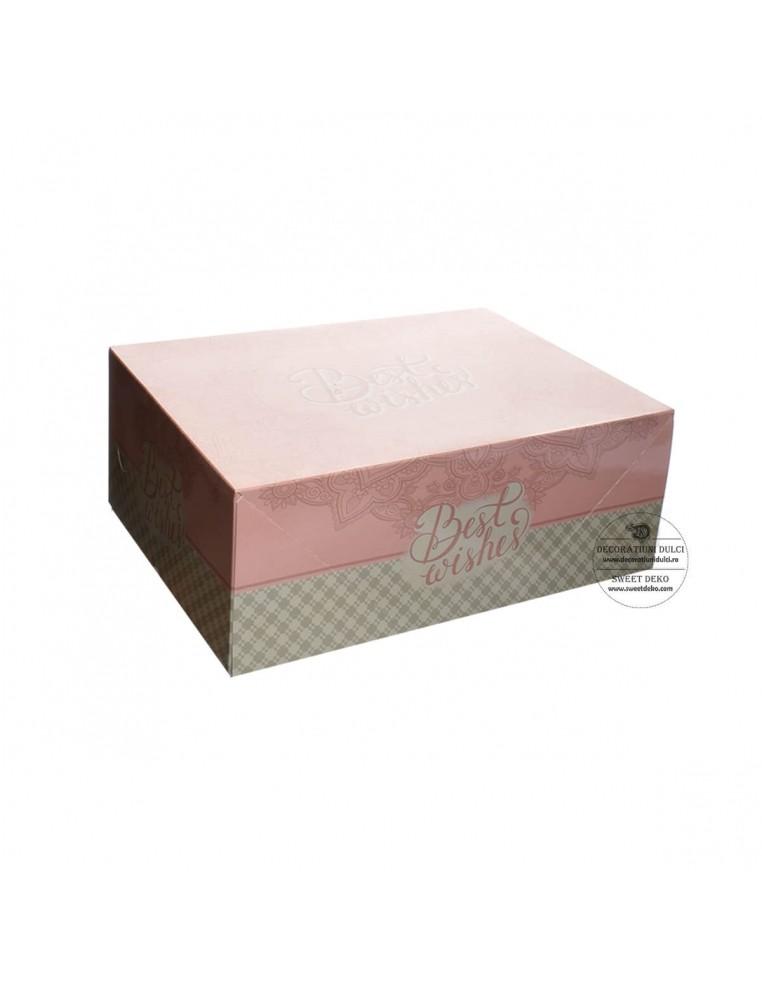Cutie dreptunghiulara roz/bleu Best...