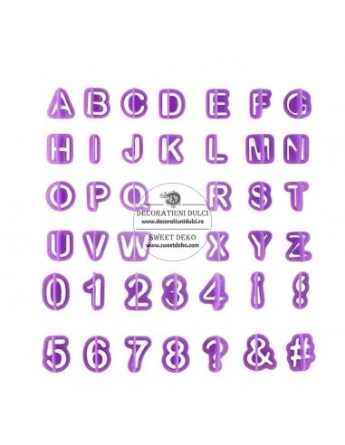 Decupatoare individuale litere, cifre...