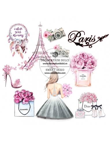 Bujori in Paris - Imagine comestibila