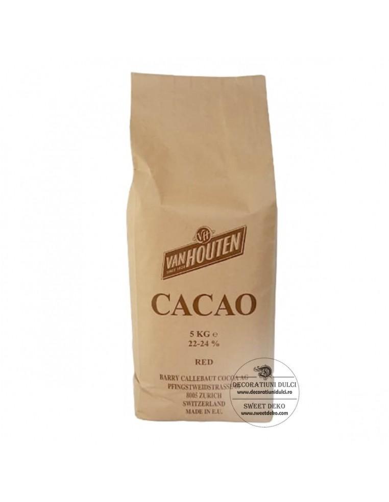 Cacao Van Houten, Rosu Brun 22-24% - 5kg