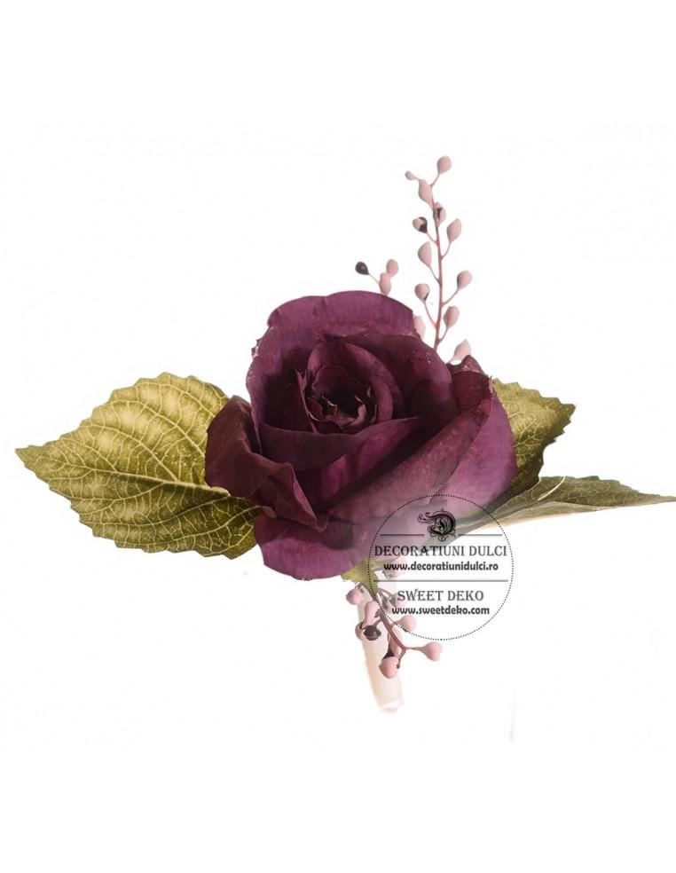 Topper Flori - Trandafir mov grena si...