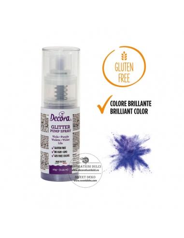 Glitter lila cu pompita,  Purple...