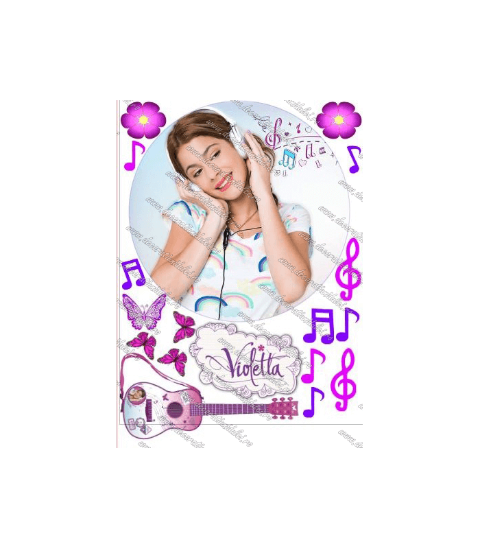 Imagine comestibila Violetta