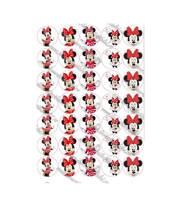 Imagine comestibila cerculete Minnie