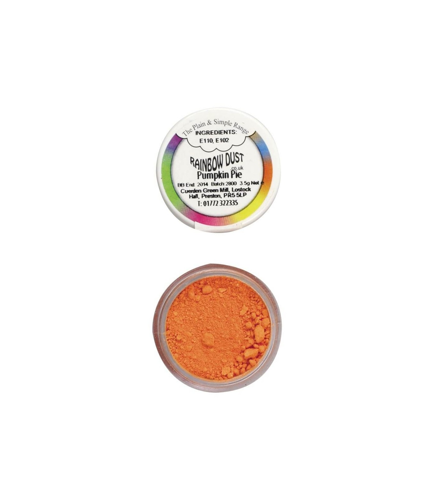 Dust portocaliu dovleac - Rainbow Dust