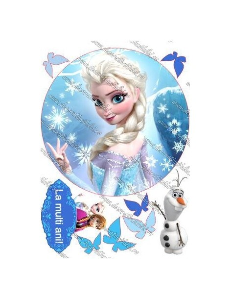 Imagine comestibila Elsa - 4