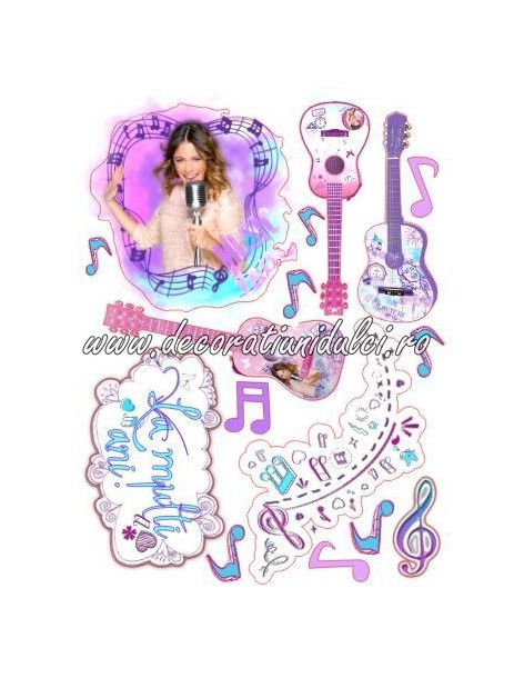 Imagine comestibila Violetta - 2