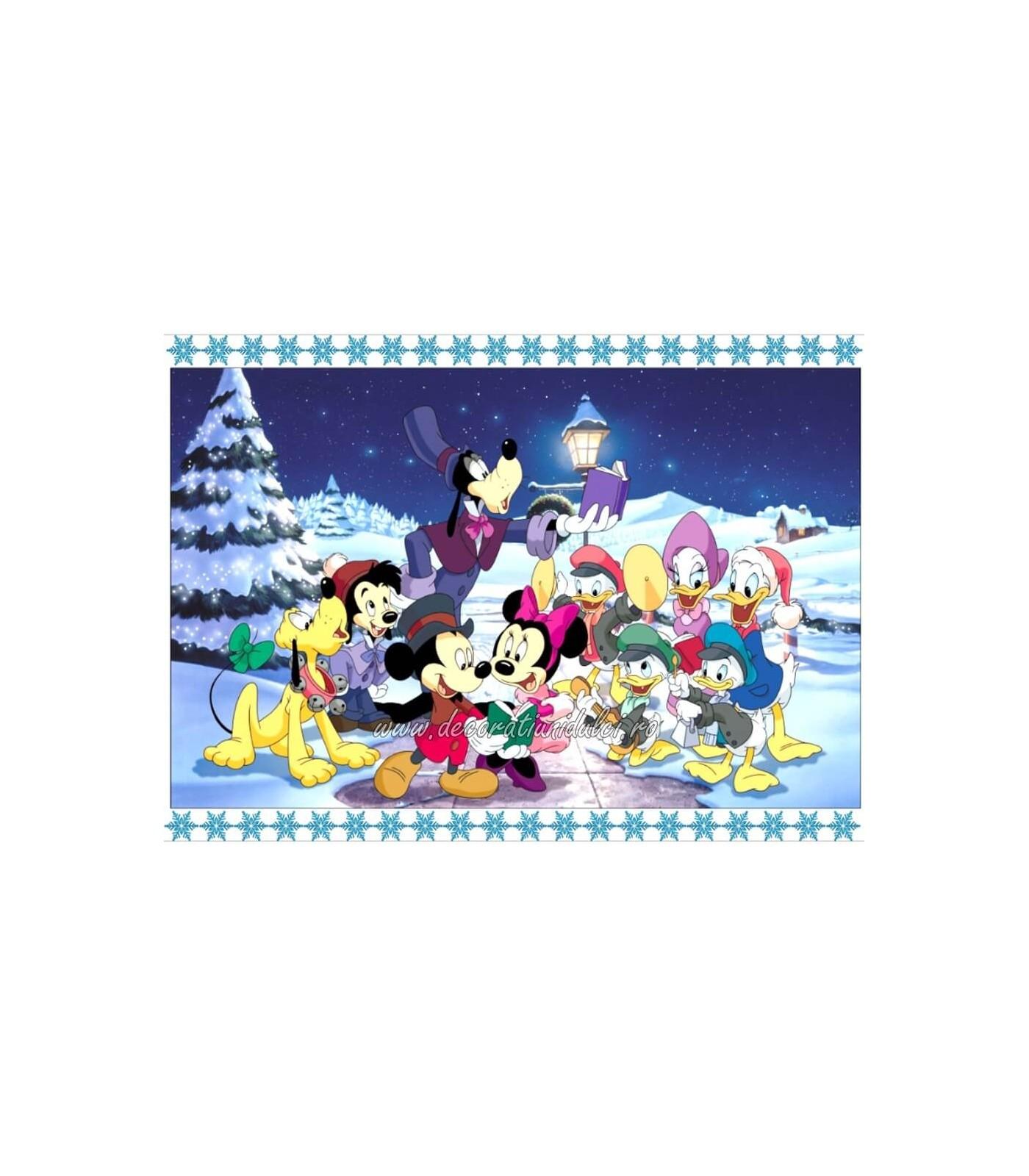 Imagine comestibila  Mickey si prietenii de Craciun