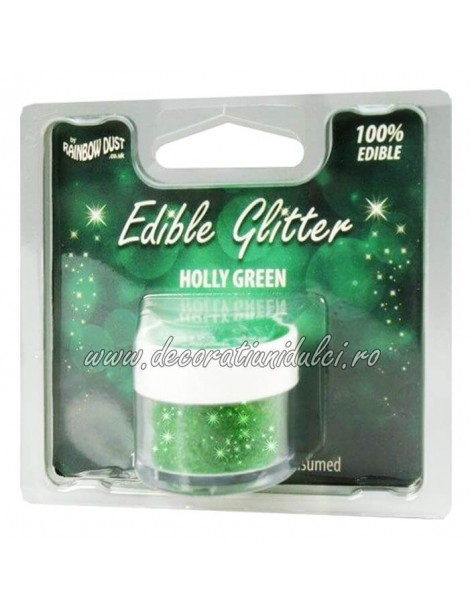 Glitter comestibil - Holly Green