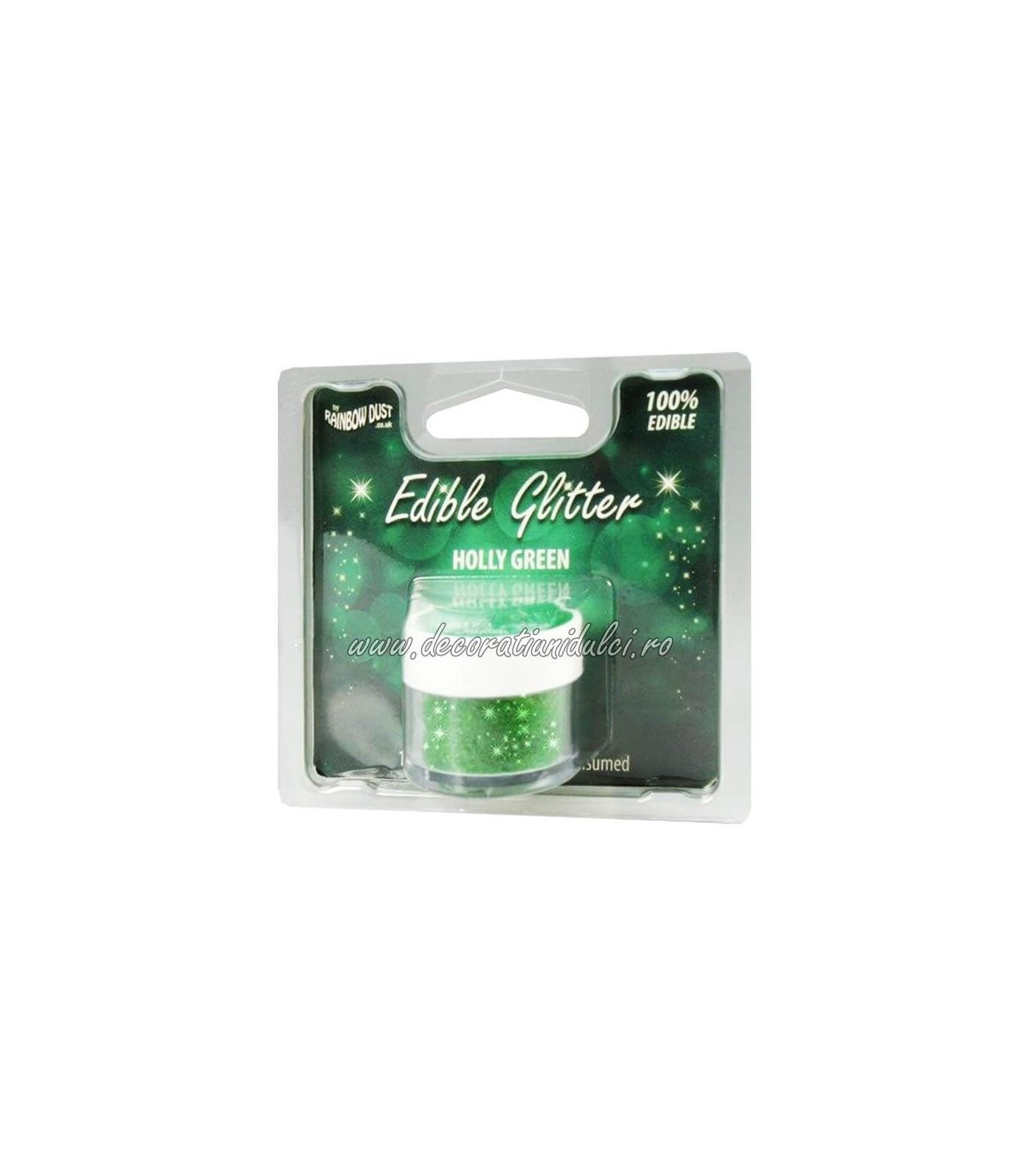 Glitter comestibil - Holly Green