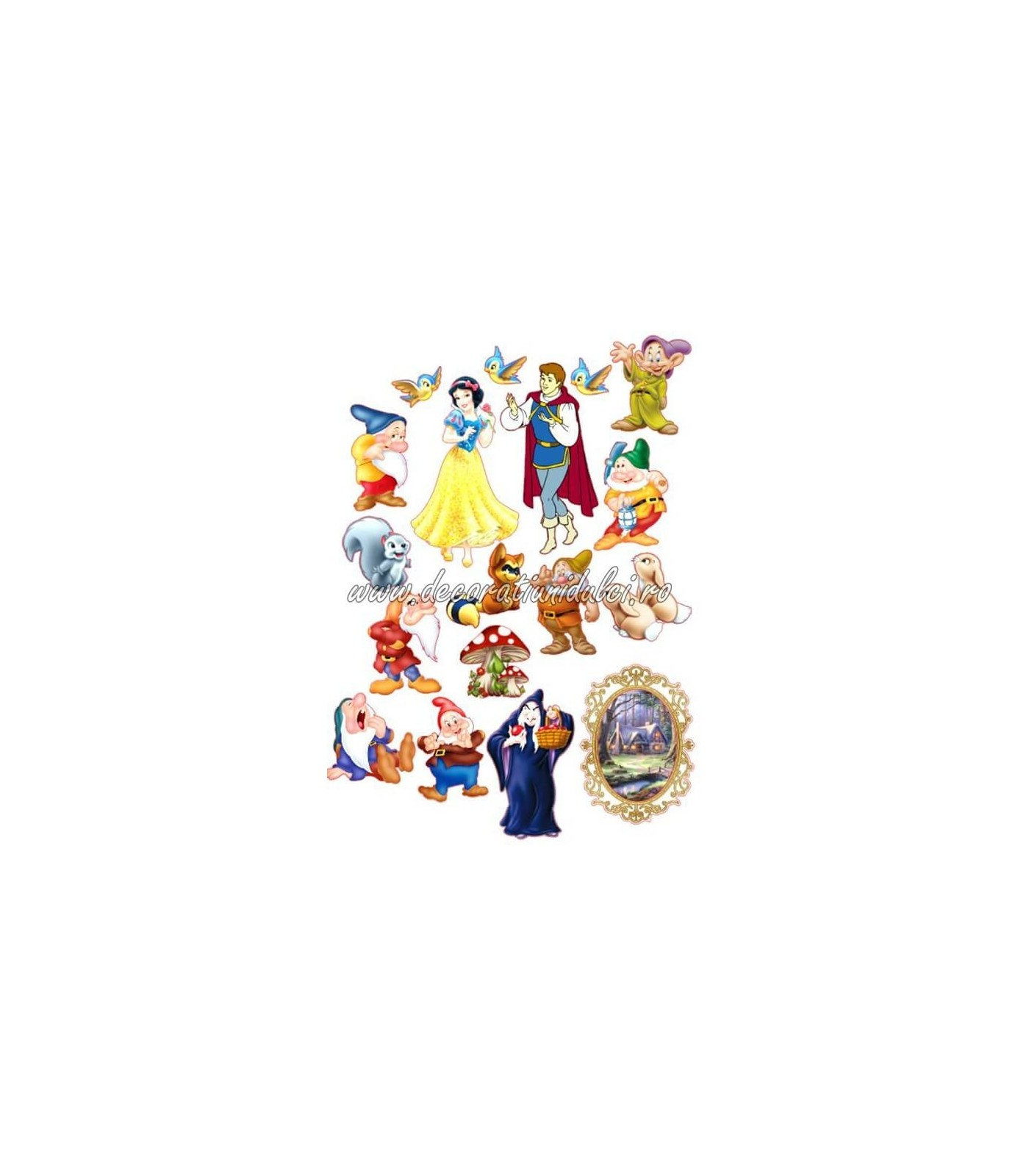Imagine comestibila Alba ca Zapada si cei 7 pitici