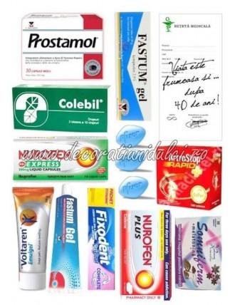 Imagine comestibila colectie de medicamente
