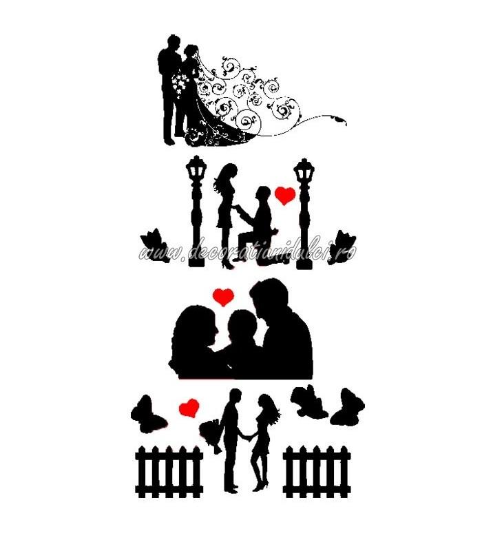 Siluete comestibile casatorie