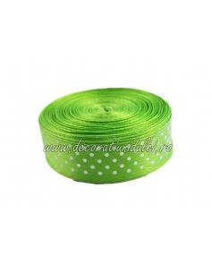 Banda verde deschis cu bulinute