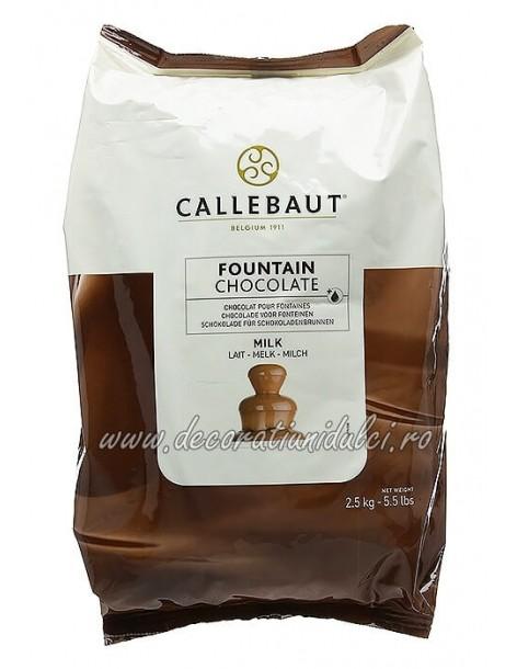 Ciocolata cu lapte pentru fantana de ciocolata (2,5kg) - Barry Callebaut