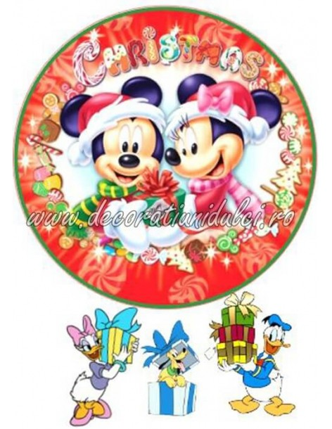 Minnie si Mickey de Craciun...