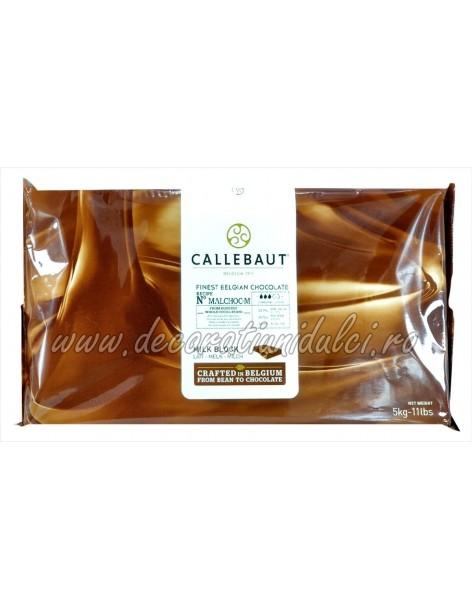Ciocolata cu lapte, fara zahar, Callebaut
