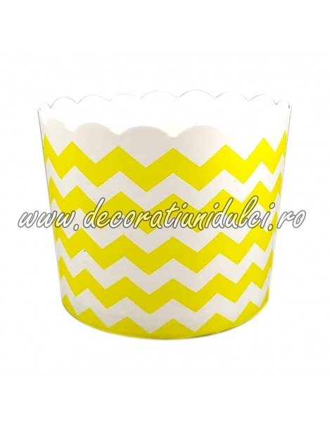 Cupe cerate galbene zigzaguri albe