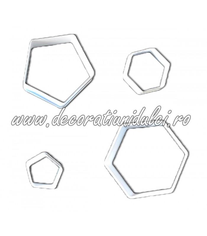 Decupatoare pentagon si hexagon