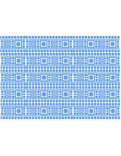 Motiv popular cusaturi albastre