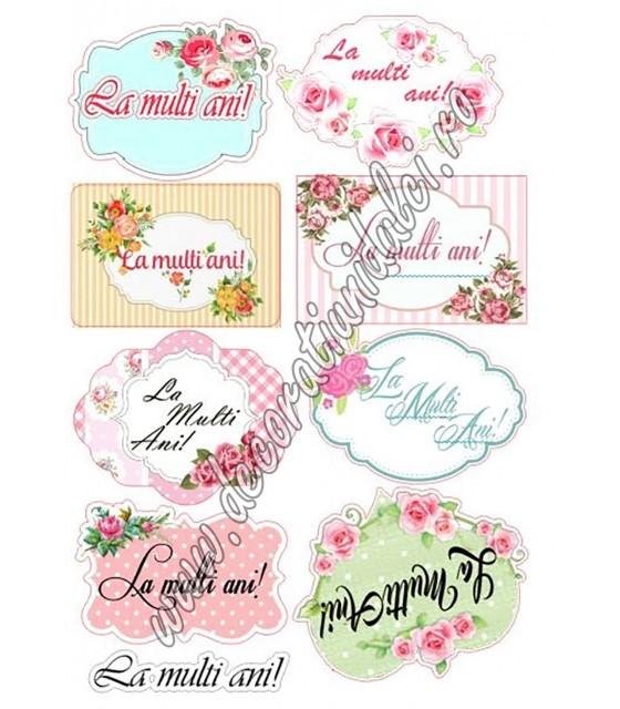 Etichete cu flori - Imagine...