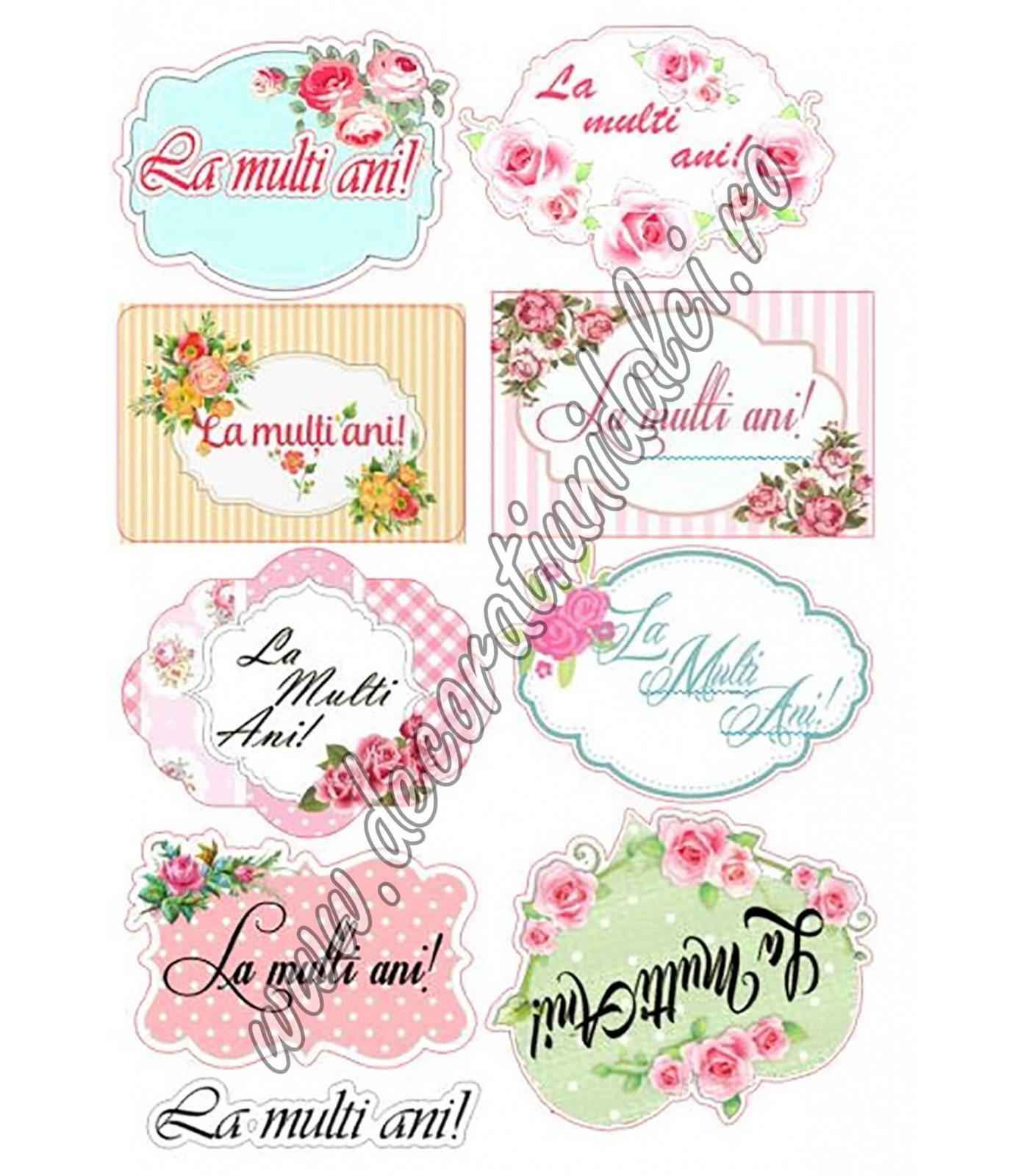 Etichete cu flori - Imagine comestibila