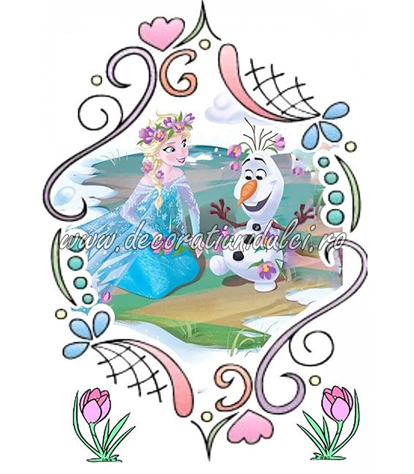 Imagine comestibila primavara cu Olaf