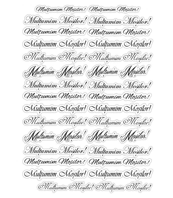 Etichete comestibile, Multumim Mosilor