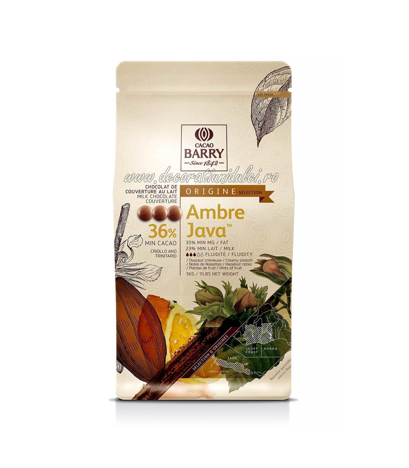 AMBRE JAVA - Ciocolata cu lapte 36% -...