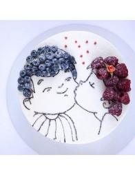 Imagine comestibila copilasi, tort fructe