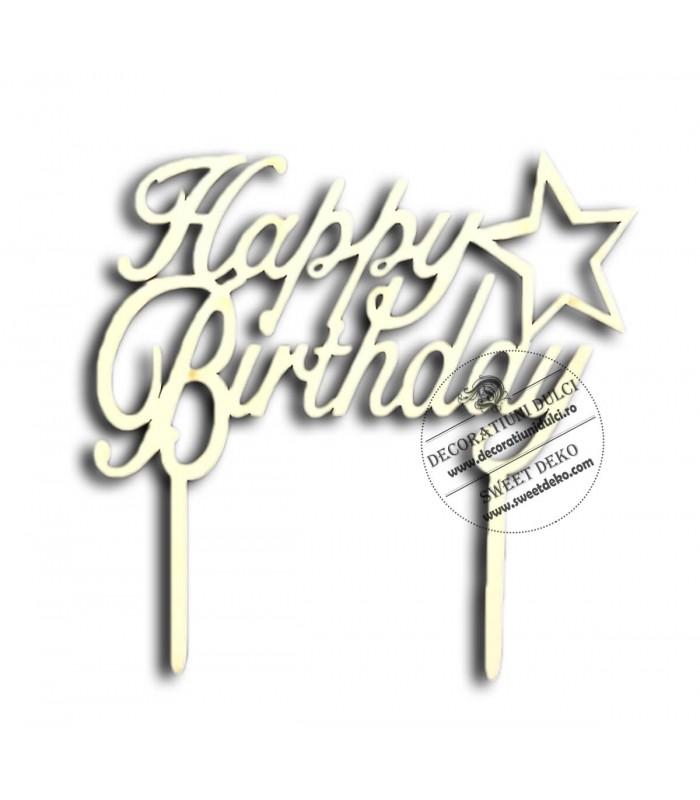 Decor din lemn,  Happy Birthday!