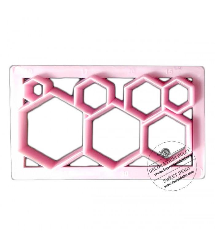 Decupator hexagon, placuta