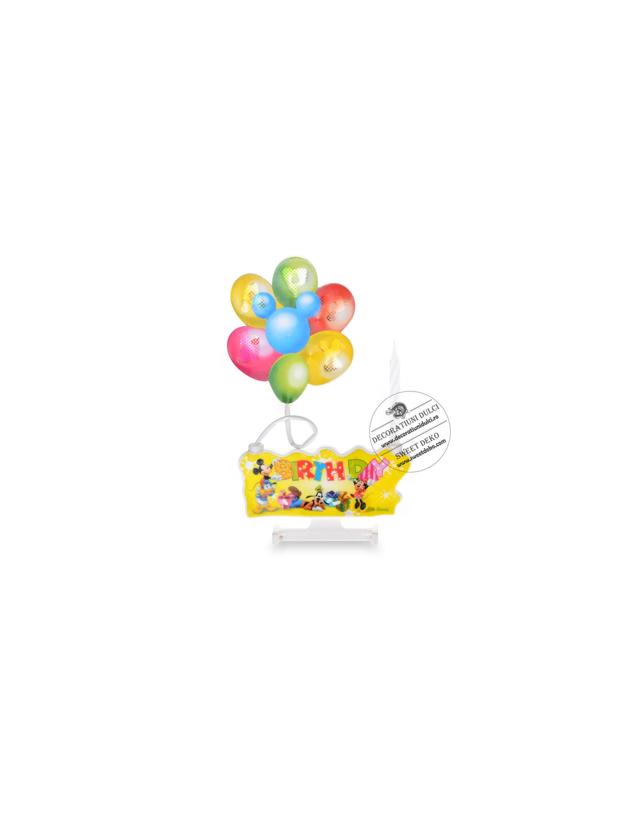 Lumanare muzicala baloane Disney