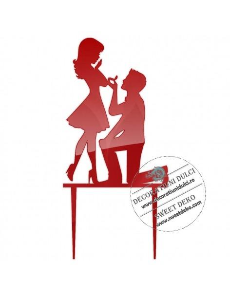 Topper nunta Cerere in casatorie, plexi