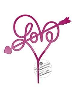 Topper inima Love, plexi