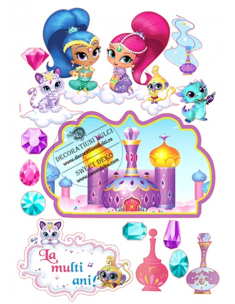 Imagine comestibila Shimmer si Shine
