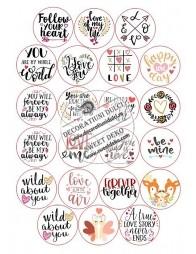 Imagine comestibila decoratiuni briose Valentine's Day