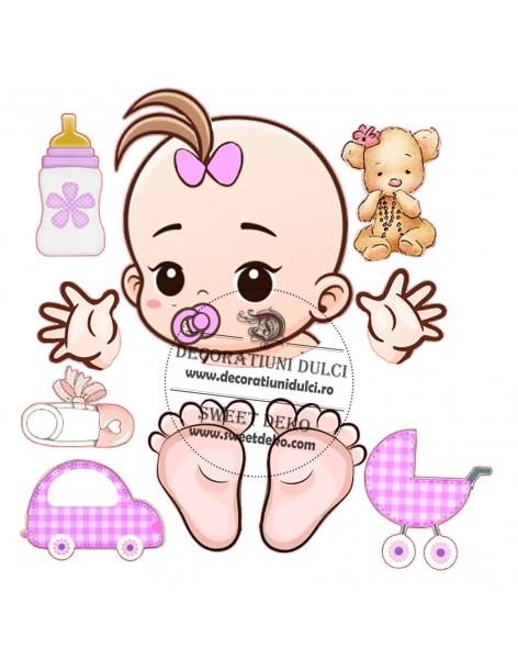 Imagine comestibila Bebelus fetita