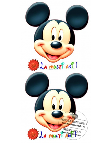 Imagine comestibila capete Mickey...