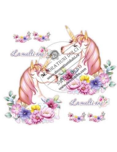 Imagine comestibila unicorn pictat