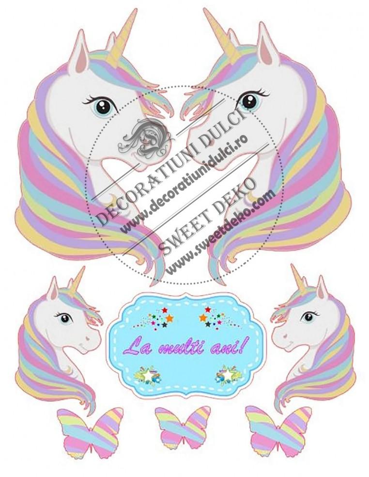 Imagine comestibila unicorn portret