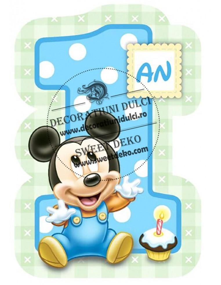 Imagine comestibila 1 an cu Mickey Mouse