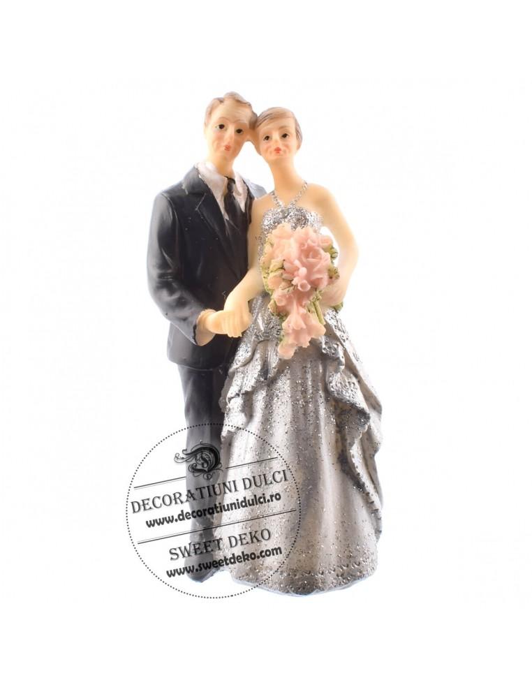 Figurine tort, nunta de argint