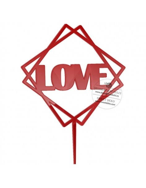 Topper Geometric Love, plexi