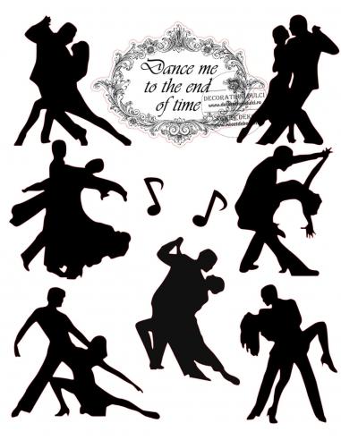 Siluete comestibile Dance ME