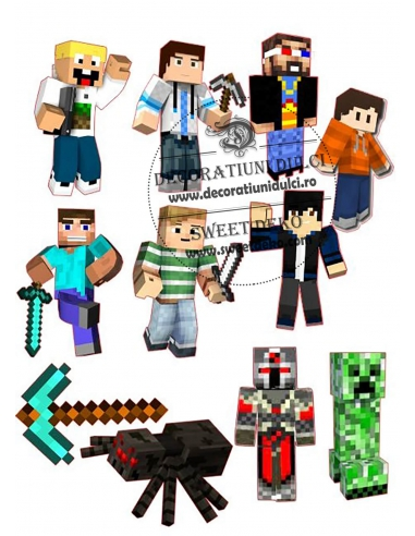 Imagine comestibila Personaje Minecraft