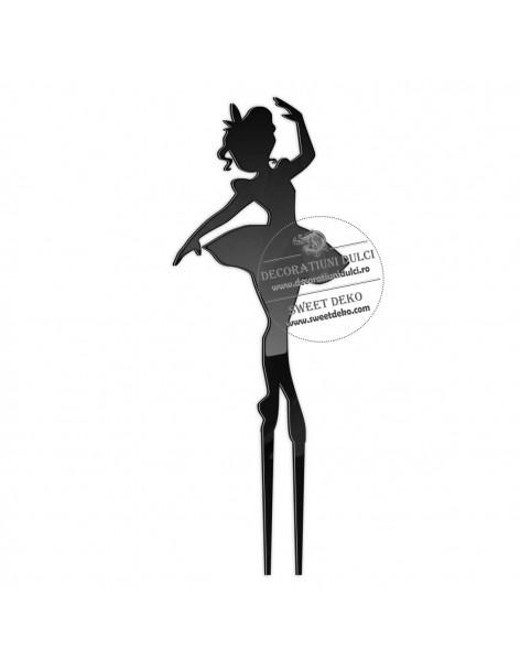Topper balerina, plexiglas